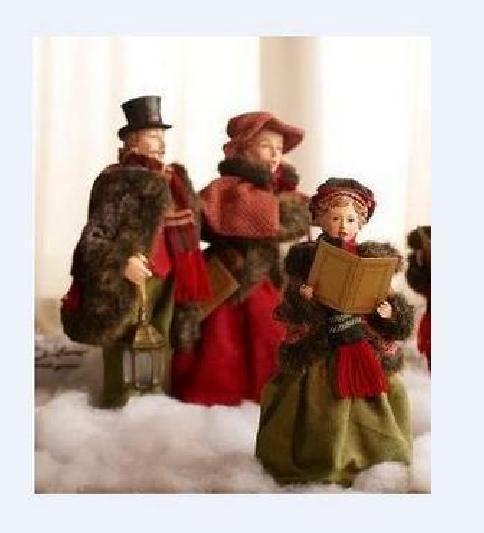 Victorian Christmas Carolers Figurines: Victorian Christmas Caroler 3