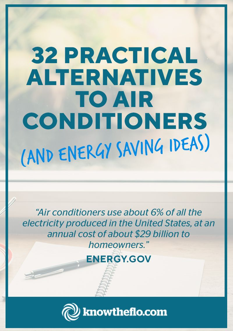 32 Practical Alternatives To Air Conditioners Energy Saving Tips Save Energy Alternative