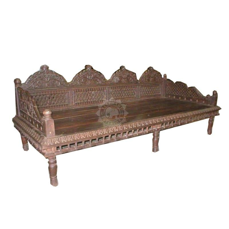 Original Indian Wooden Sofa Bench Eiu027 Indian Furniture