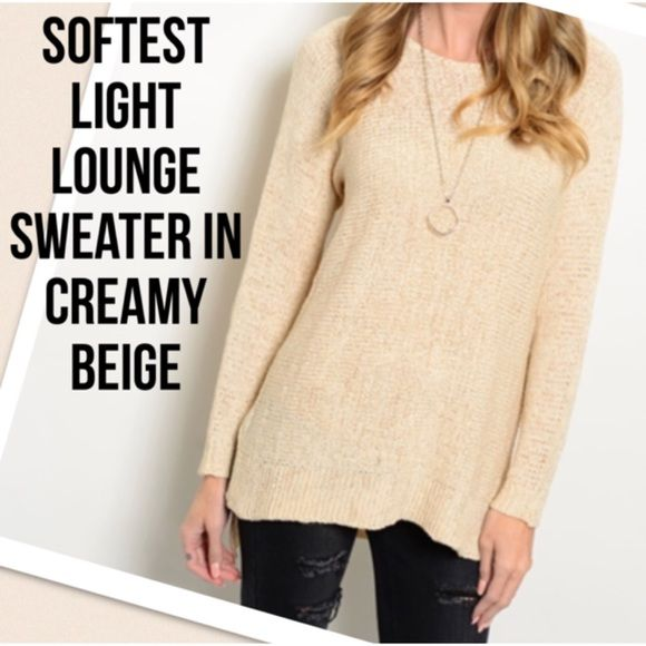 Light Tan Lounge Knit Sweater Boutique | Dress up, It is and Ea