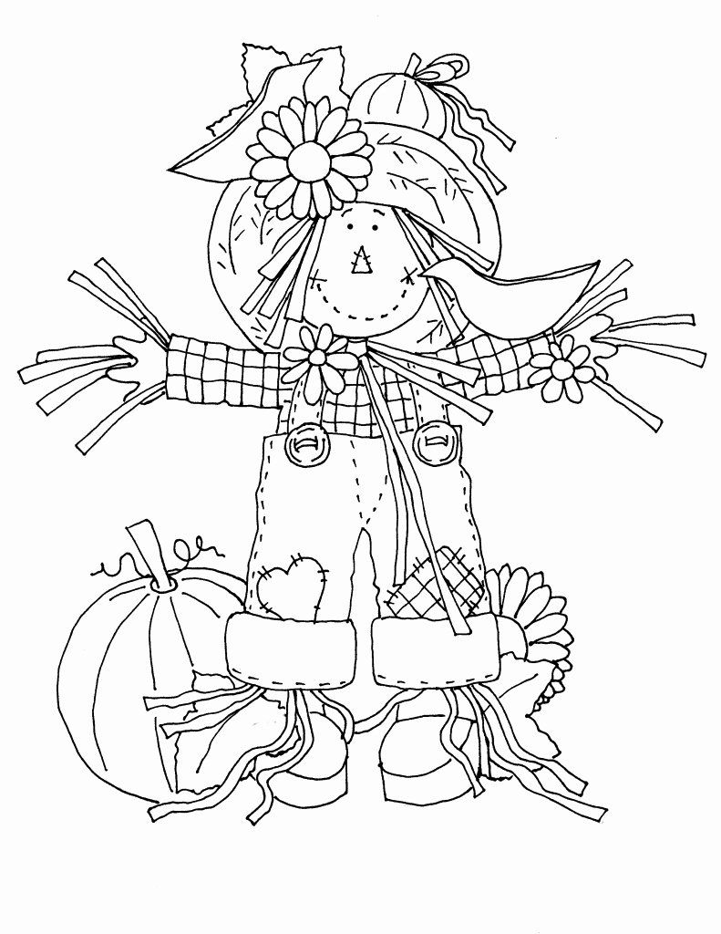 Printable Scarecrow Coloring Page Lovely Scarecrow