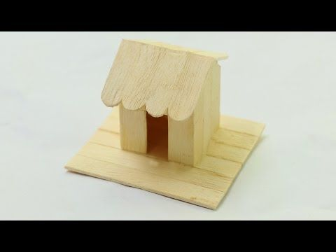 How To Make Ice Cream Stick Mini House Simple Popsicle Stick