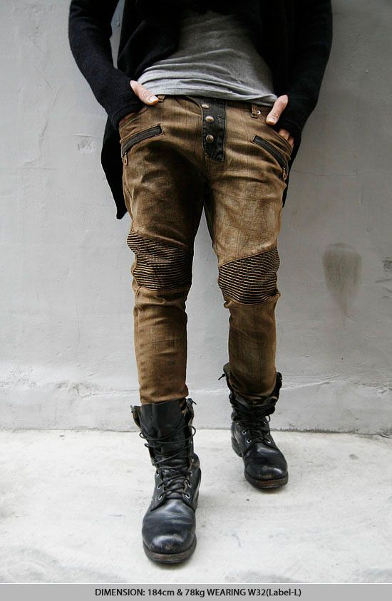 Avant-garde Mod Mens Limited Checkered Biker Jeans | My Life Style ...