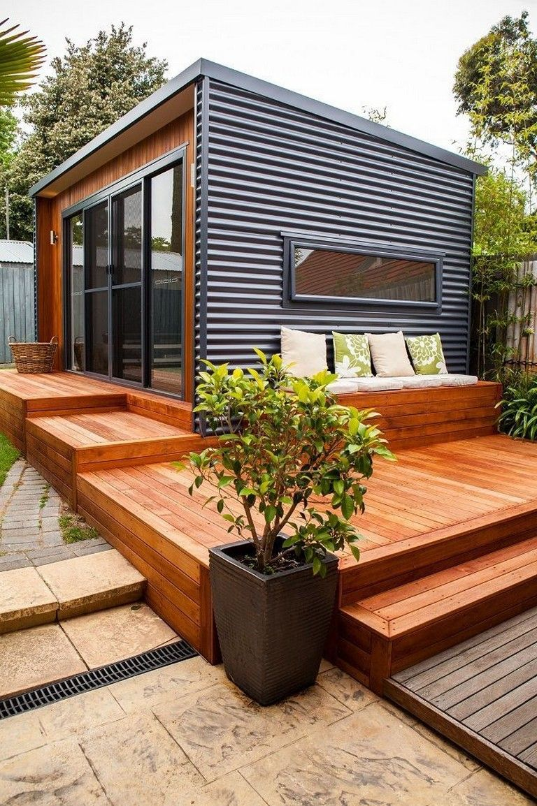 28 Top Outdoor Room Ideas Modern Small House Design Small House Design Tiny House Design Mini house for backyard