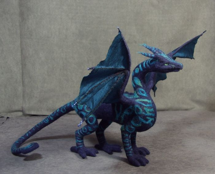 needle felted dragon #feltdragon needle felted dragon #feltdragon