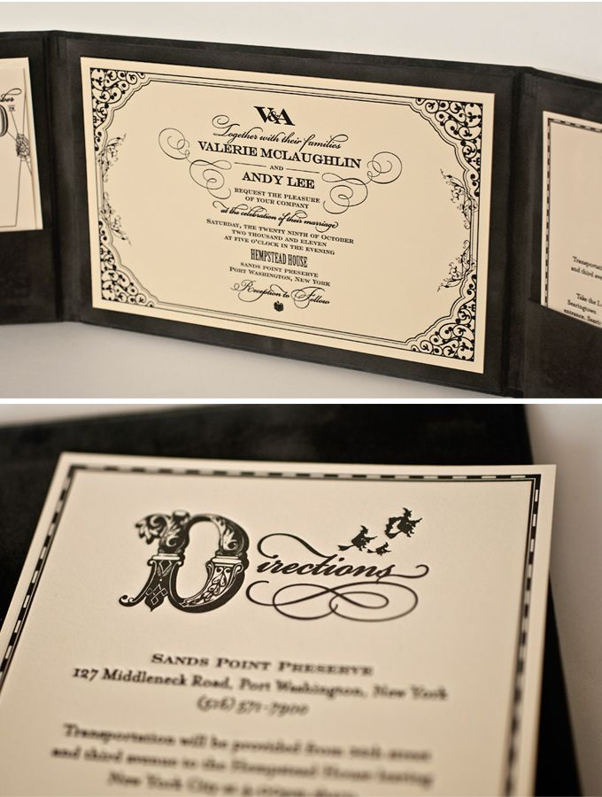 Halloween wedding invitation Because every girl likes to look at