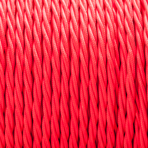 Red twisted fabric cable Red fabric, Fabric, Red