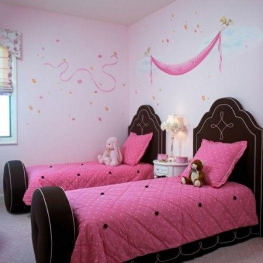 Stilvolle rosabraune Kinderzimmer Designs - rosa Bettwäsche - rosa schlafzimmer gestalten