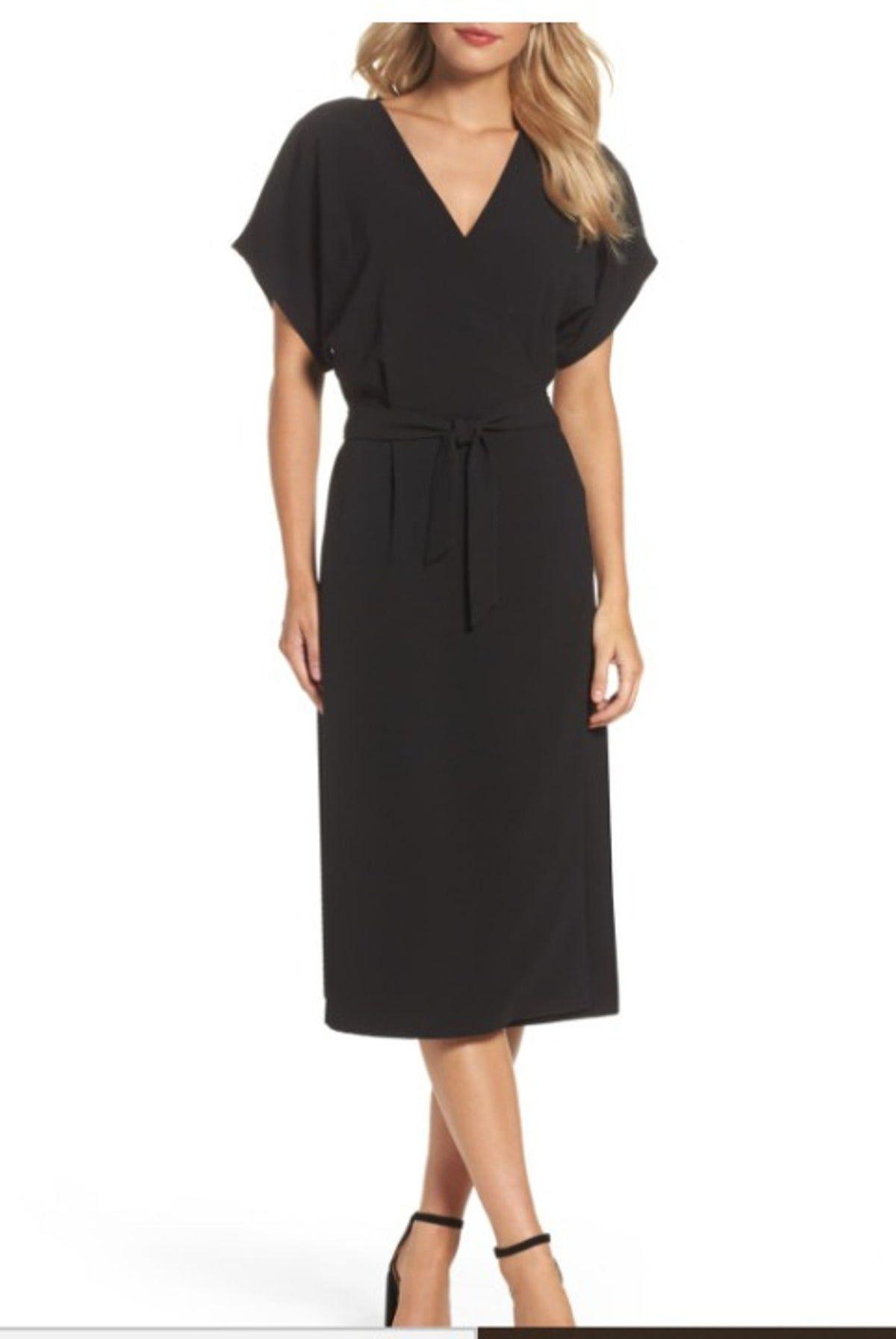 felicity & coco} black wrap dress sourcemercarius #black