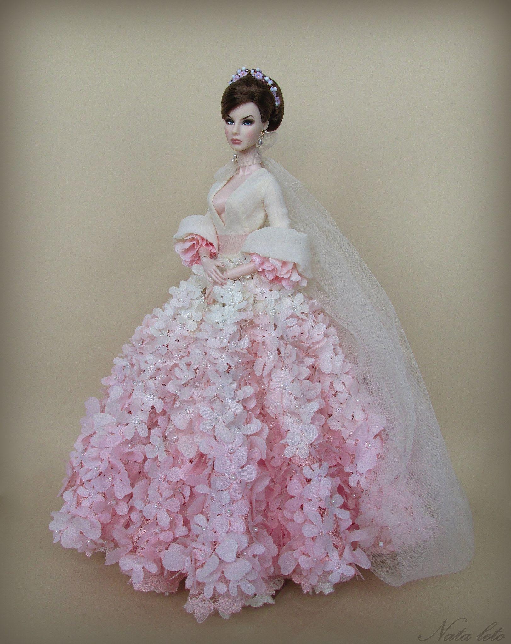 Doll wedding dress  Pin by Pam on Barbie accessories  Pinterest  Dolls Barbie doll