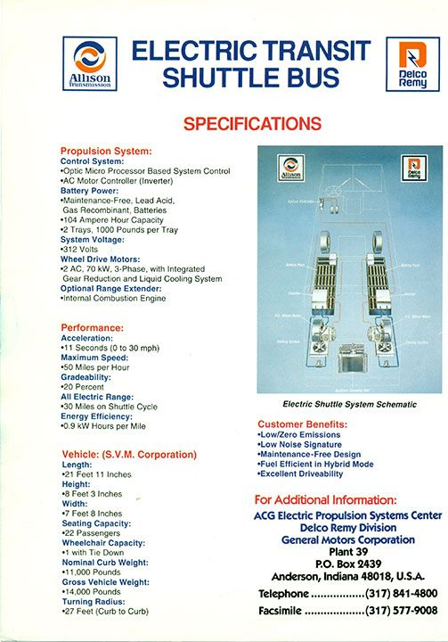 Delco Remy Division Product History Propulsion Systems Delco Propulsion System