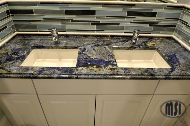 Blue Bahia Brazilian Granite Takes Your Breath Away Granite Countertops Blue Countertops Granite