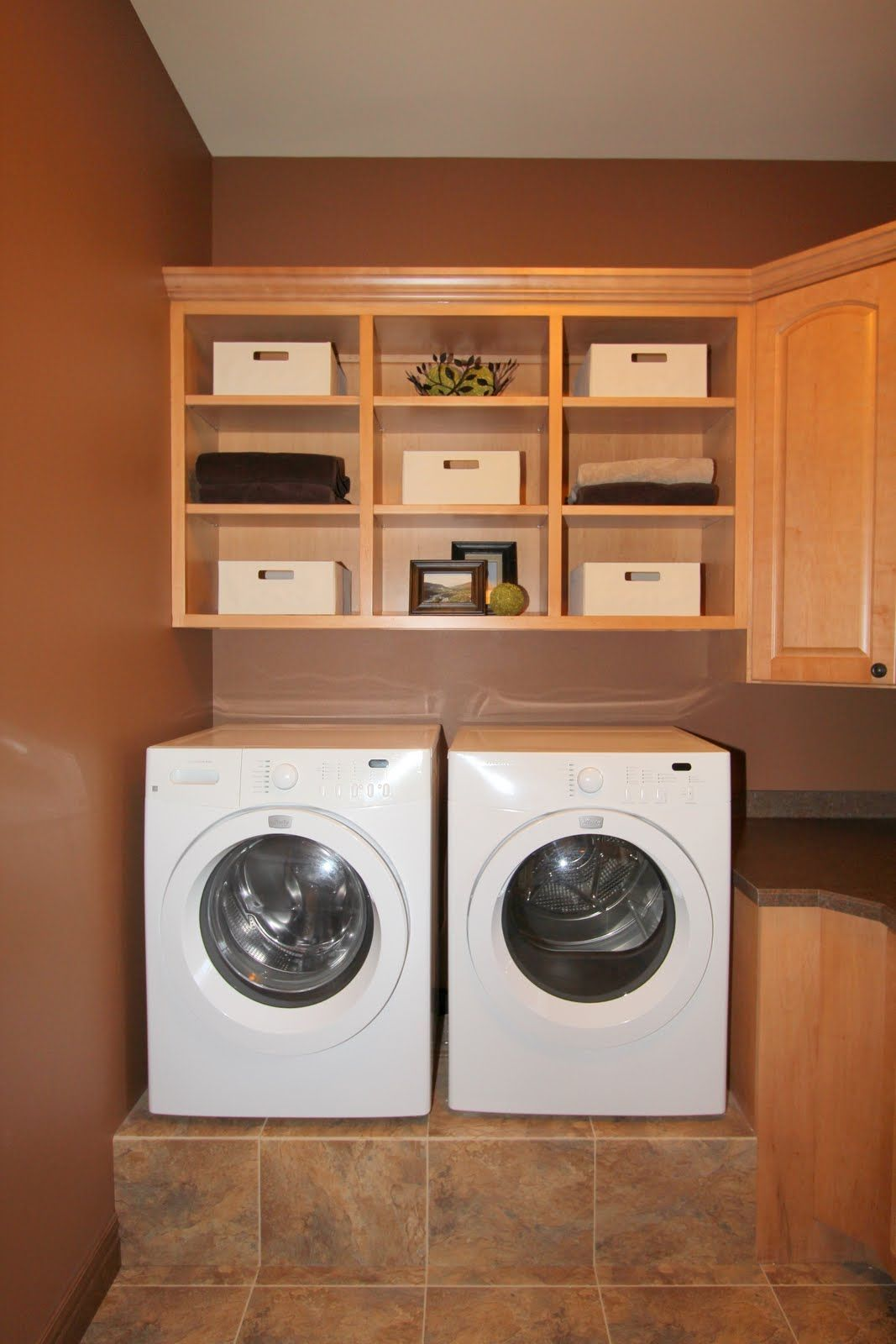 Wall Cabinets For Laundry Room With Hanging Open Cabinet Also Brown ...