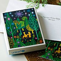 Discover unique handcrafted treasures. Every purchase will help UNICEF save and improve children's lives and help support talented artisans. Holiday greeting cards, 'Journey to Bethlehem' (set of 12)
