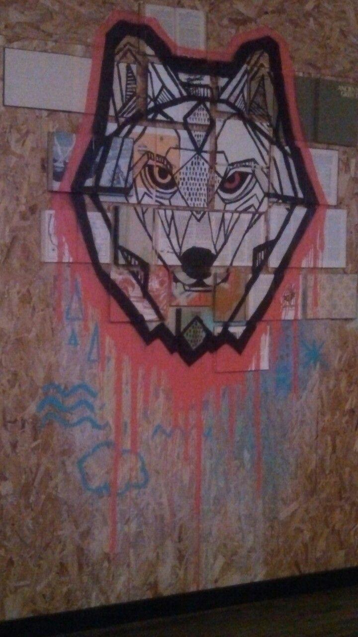 Graffiti wall tattoo - Wolf Graffiti