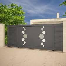 Resultat De Recherche D Images Pour Portail Coulissant Moderne Avec Rond Gate Design Modern Gate Fence Design