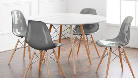 table dsw 100cm charles eames style - bois pas cher | interior ... - Chaise Charles Eames Pas Cher