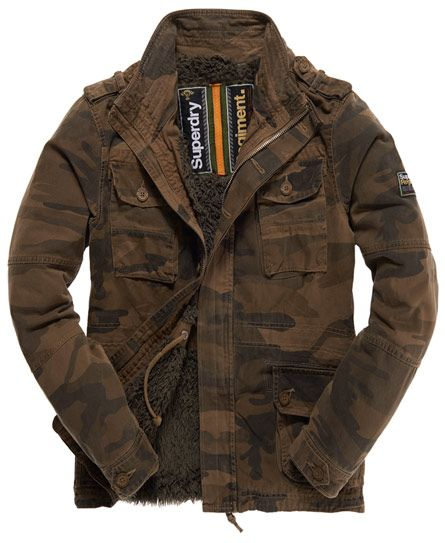 Mens - On Duty Military Jacket in Camo