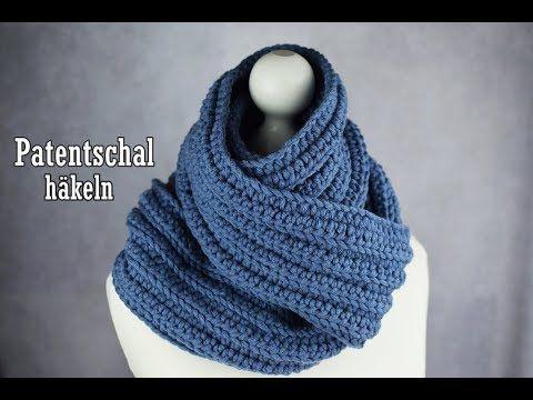Einfachen Schal Im Patentmuster Häkeln Für Anfänger Geeignet
