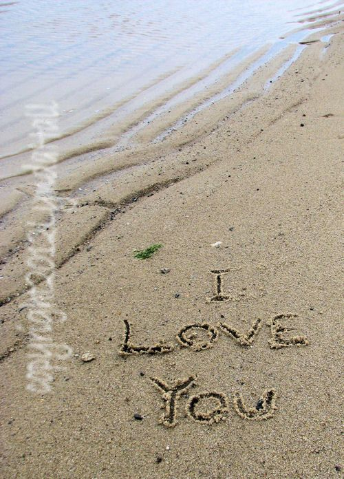 Romantic Photo I Love You Words Written In The Sand 5x7 With Mat Affordable Beach Themed Art Beach Photograp Beach Themed Art Beach Themes Romantic Photos