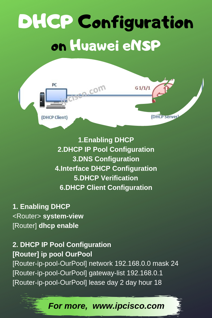 DHCP Configuration on Huawei eNSP, How to Configure VLAN on