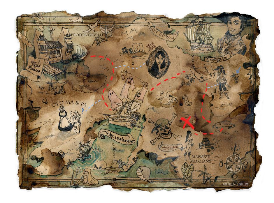 Carte Au Tresor A Imprimer Met Afbeeldingen