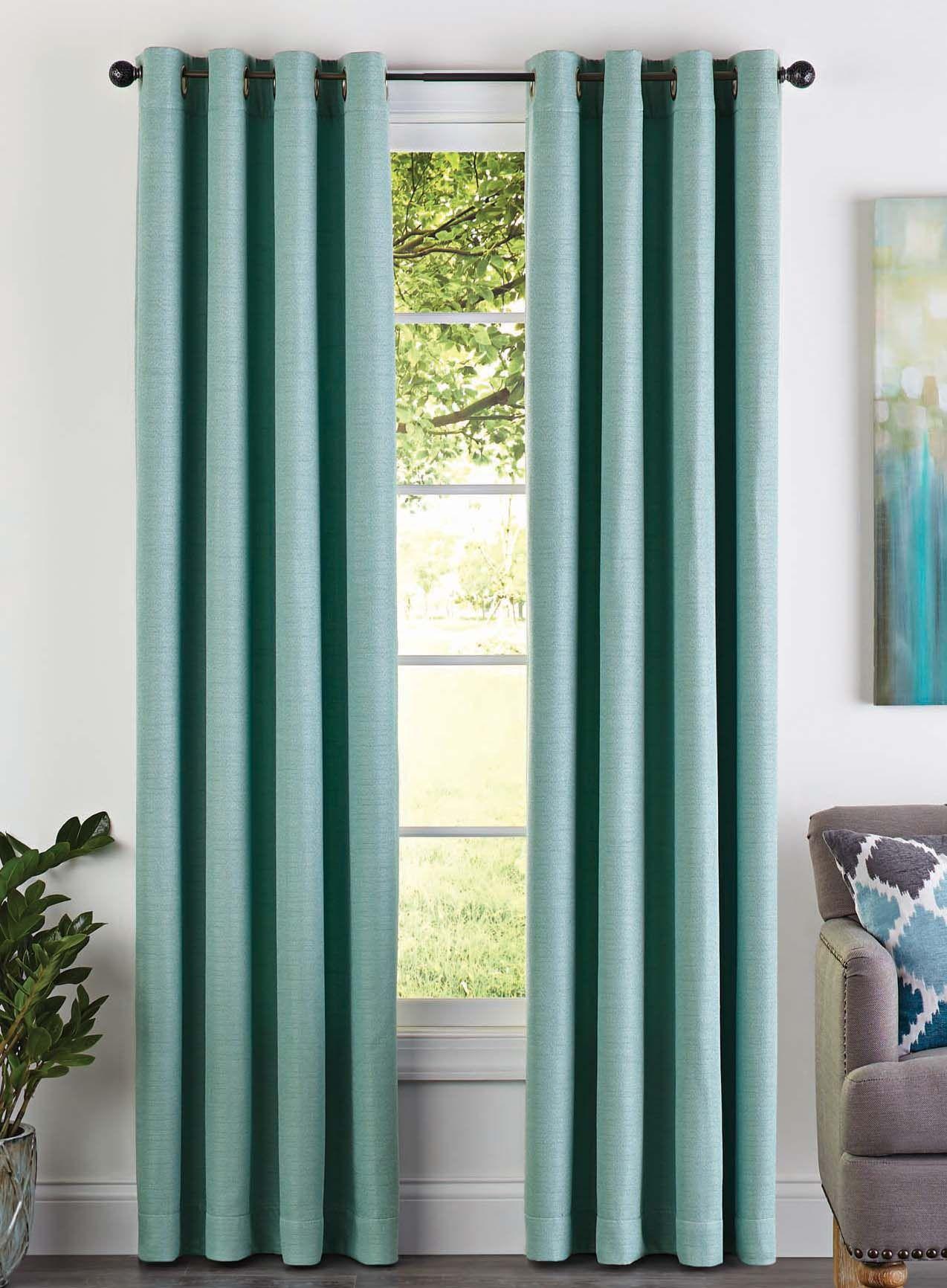 ede957cb55bf1ec89b15add74e0be132 - Better Homes And Gardens Basketweave Curtain Panel Aqua