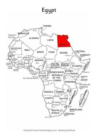 help study africa map