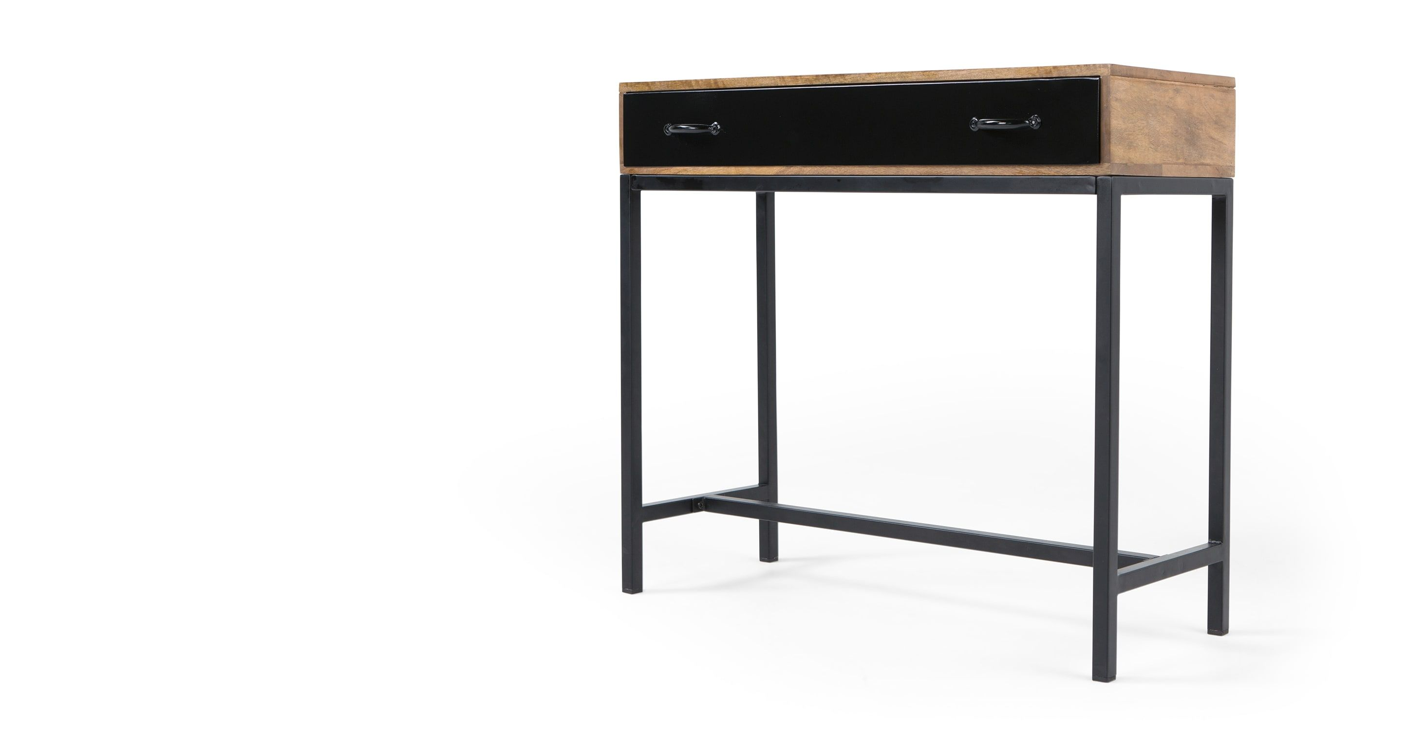 Lomond Console Table, Mango Wood and Black | Console tables ...