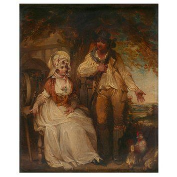 Courtship  Object: Oil painting  Date: late 18th century-early 19th century (painted)  Artist/Maker: Singleton, Henry, born 1766 - died 1839 (painter (artist))  Materials and Techniques: Oil on canvas