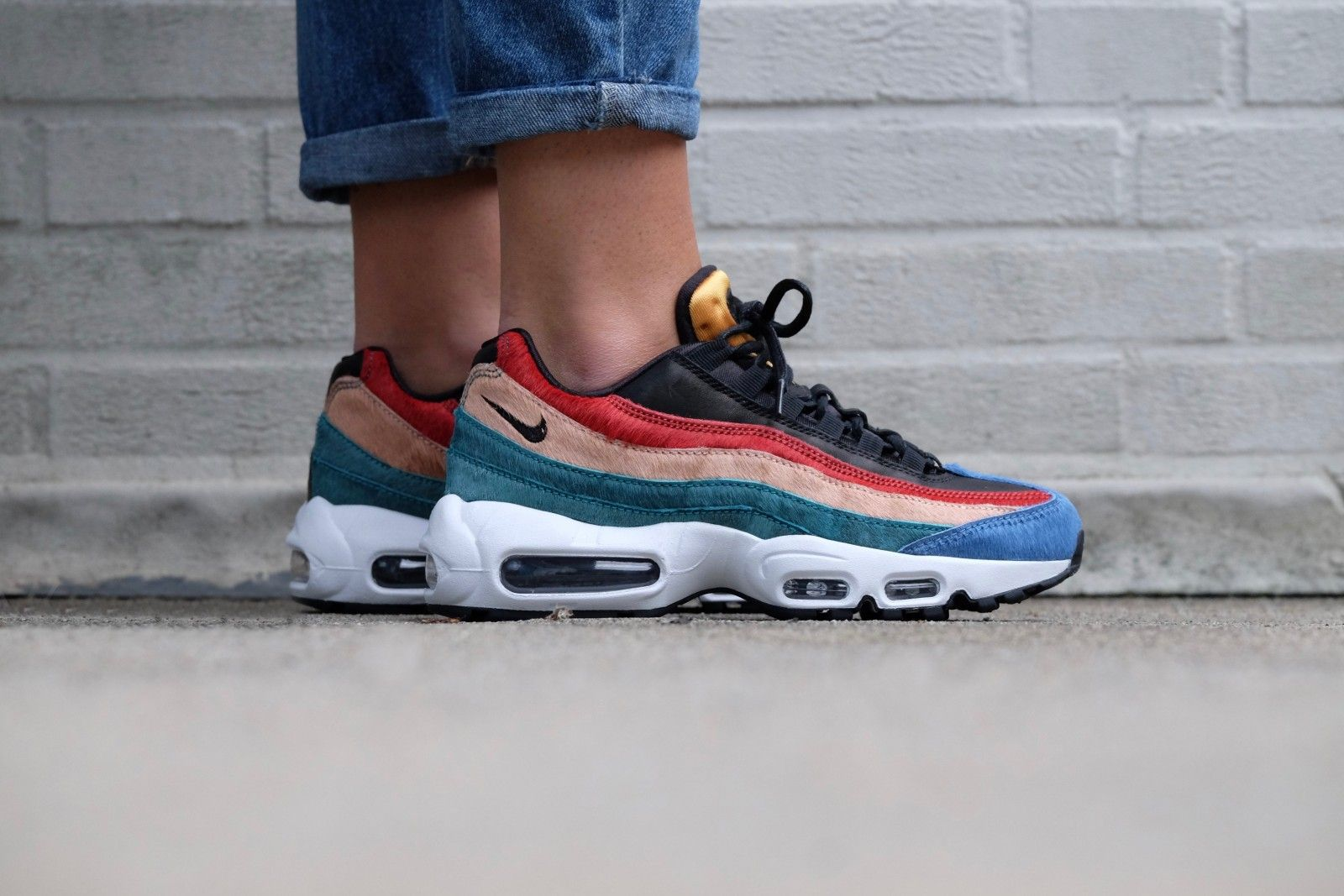 nike air max 95 premium dark cayenne and rio teal