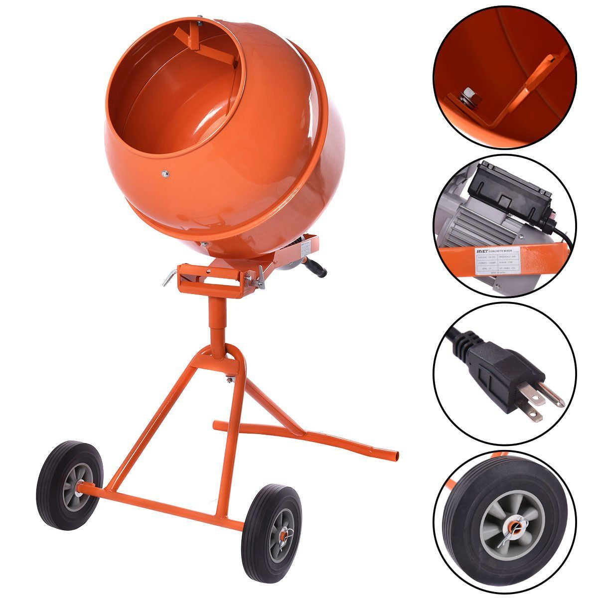 Goplus 1 2hp 5 Cubic Ft Electric Cement Concrete Mixer Review