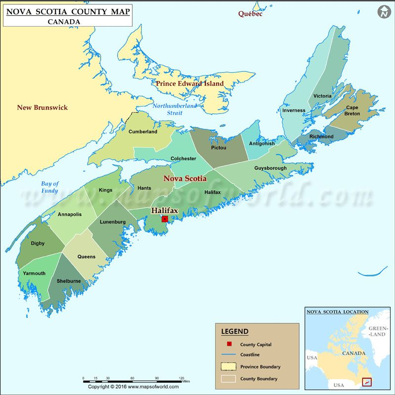 Map of Nova Scotia #Canada | Maps Of World in 2019 | County map
