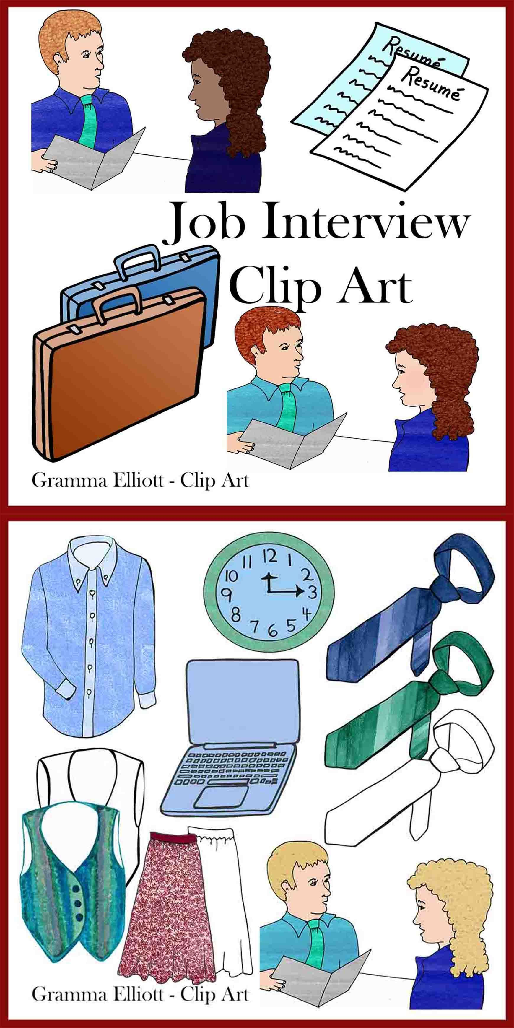Job Interview Clip Art Clip Art Black And White Art