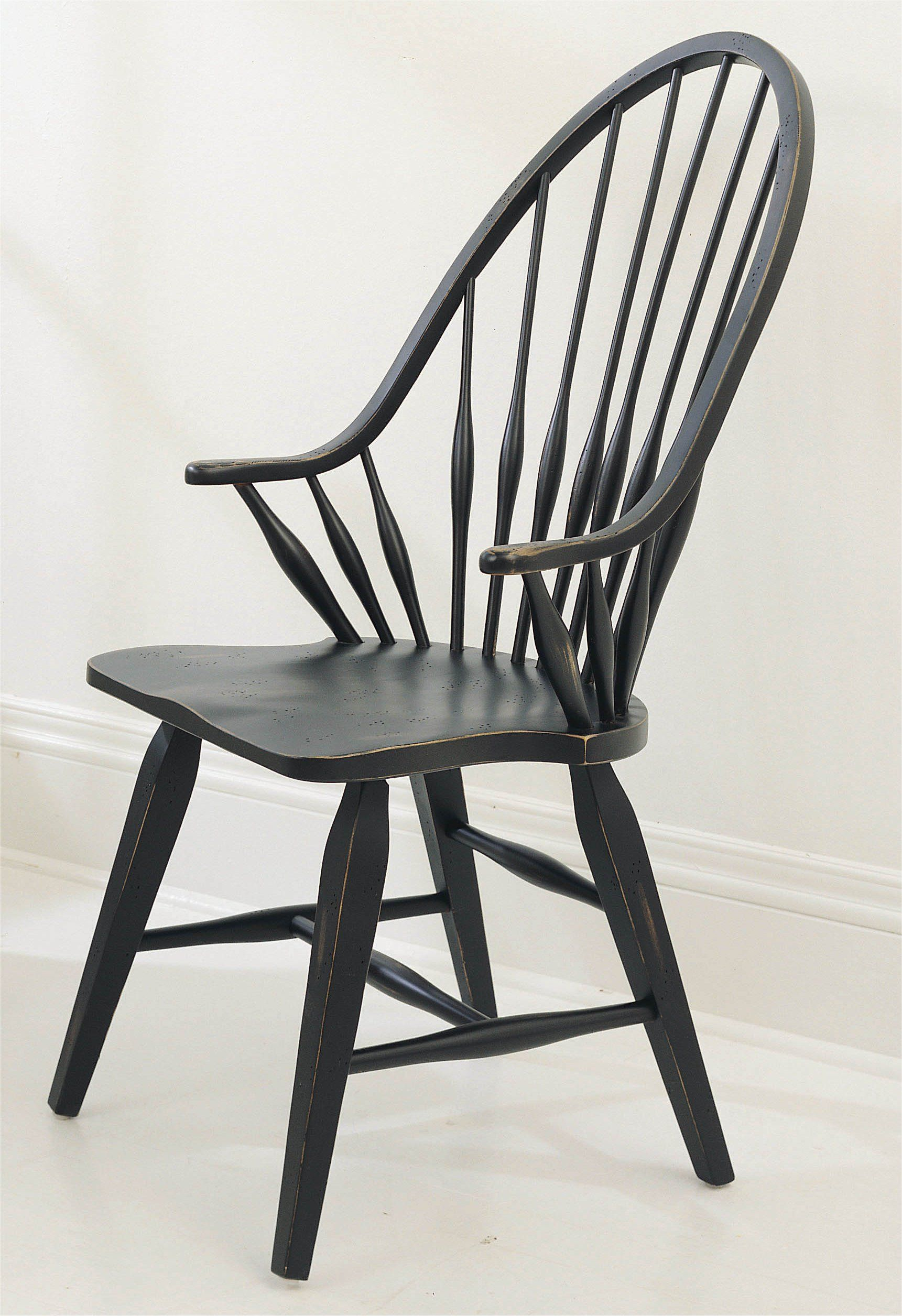 Windsor Chairs Black Broyhill Attic Heirlooms Black Dining Windsor Side Chair Kitchen