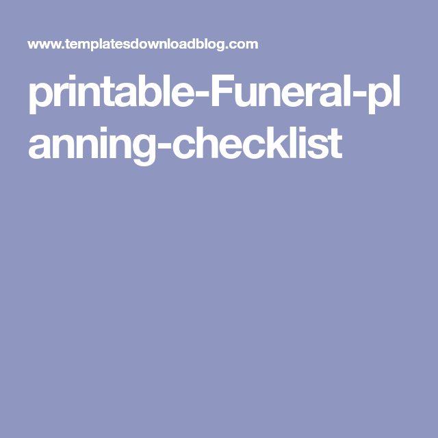 It is a photo of Tactueux Printable Funeral Checklist