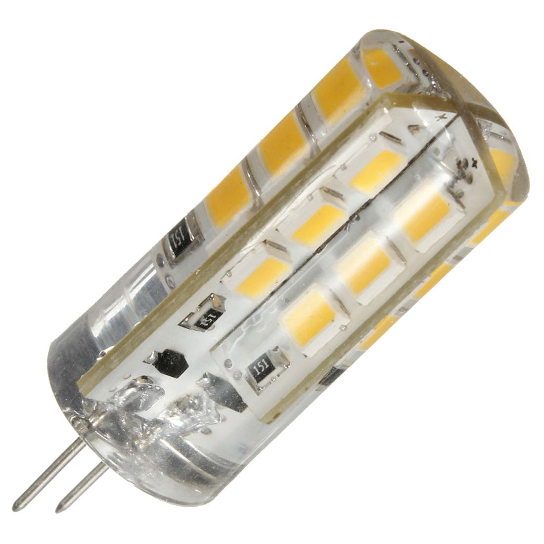 1 Pcs G4 3w 2835smd 24 Led Light Silicone Capsule Replace Halogen Bulb Light 12v Warm White Light Affiliate Halogen Bulbs Light Bulb Led Lights