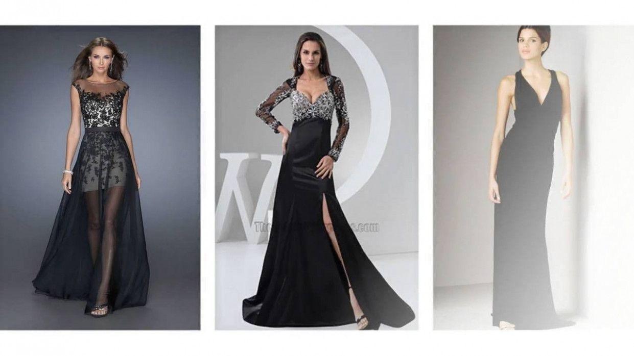 11 Kleid Lang Eng in 11  Abendkleid, Abendkleid schwarz lang