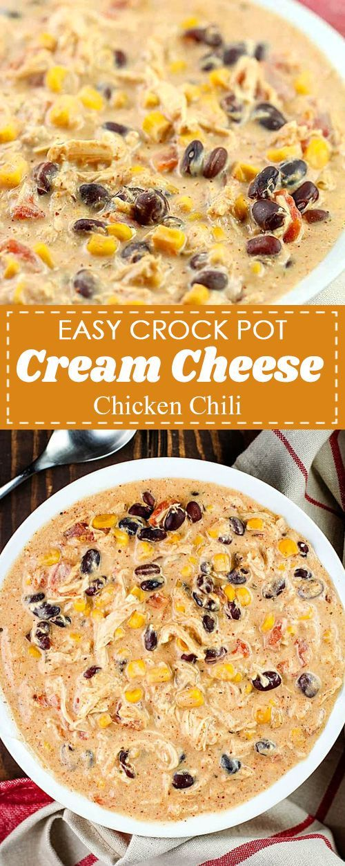 You will love this Easy Crock Pot Cream Cheese Chicken Chili Recipe! Its my fam...    Sie werd