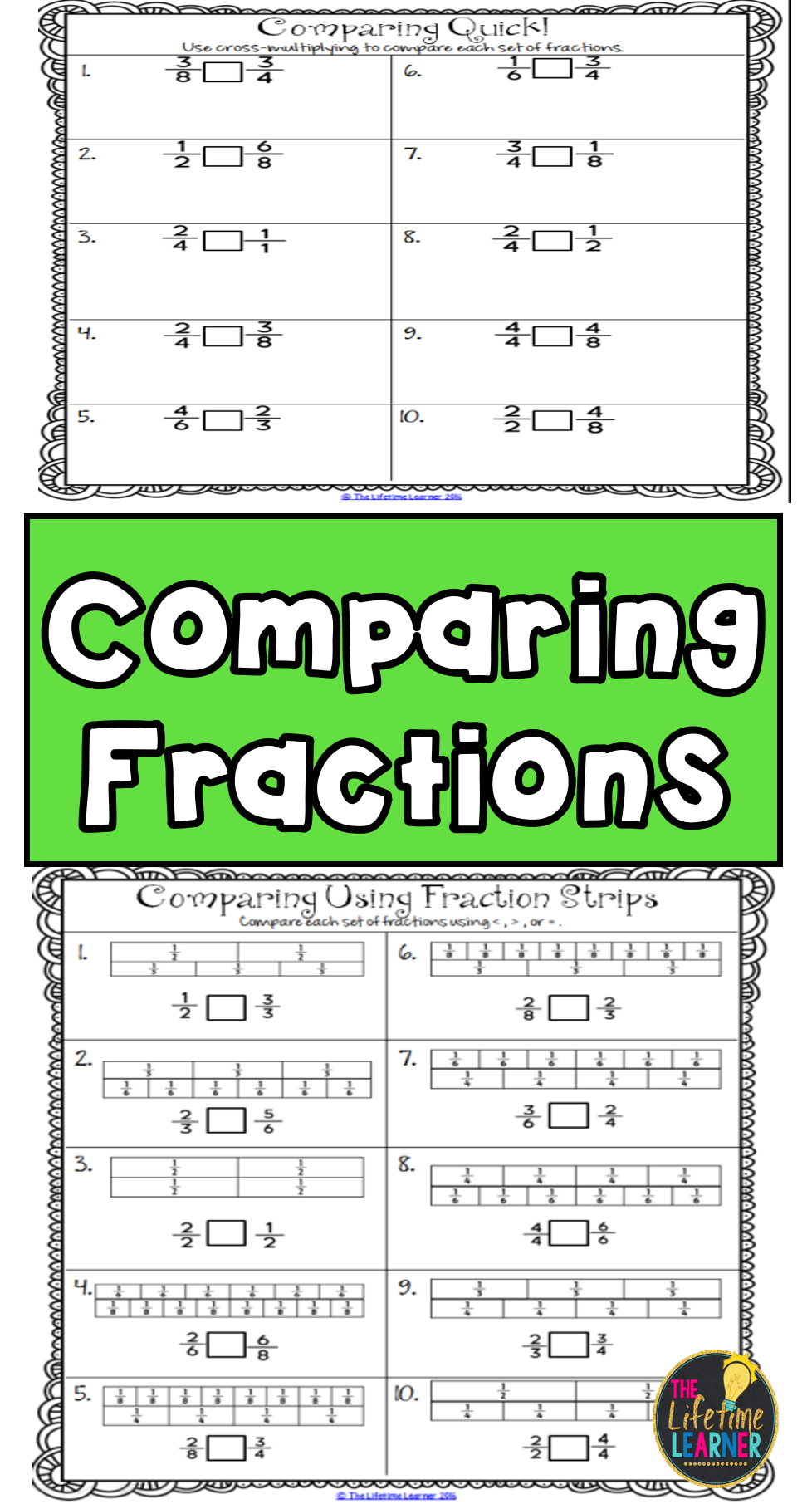 This Unit Includes Everything You Need To Teach Comparing Fractions To Your Students This Product Was Desig Fractions Worksheets Comparing Fractions Fractions [ 1811 x 978 Pixel ]