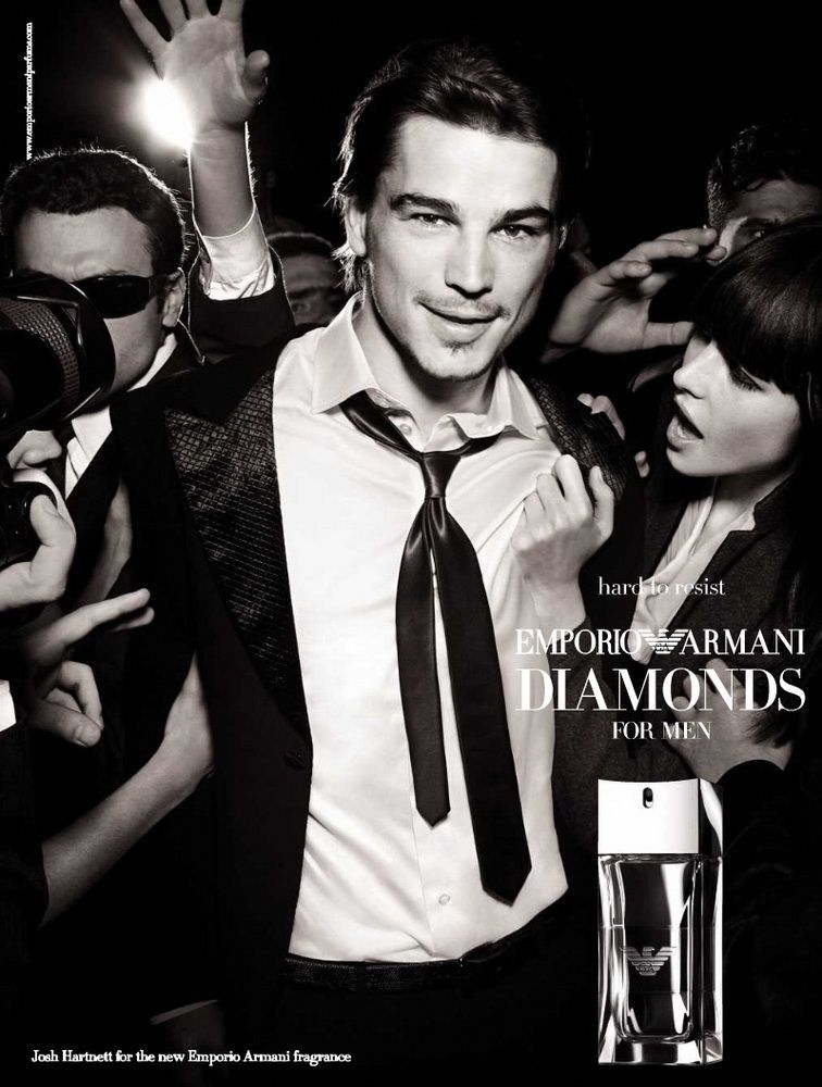 e498d9017dd8 Emporio Armani Diamonds For Men  Josh Hartnett by Mario Testino ...