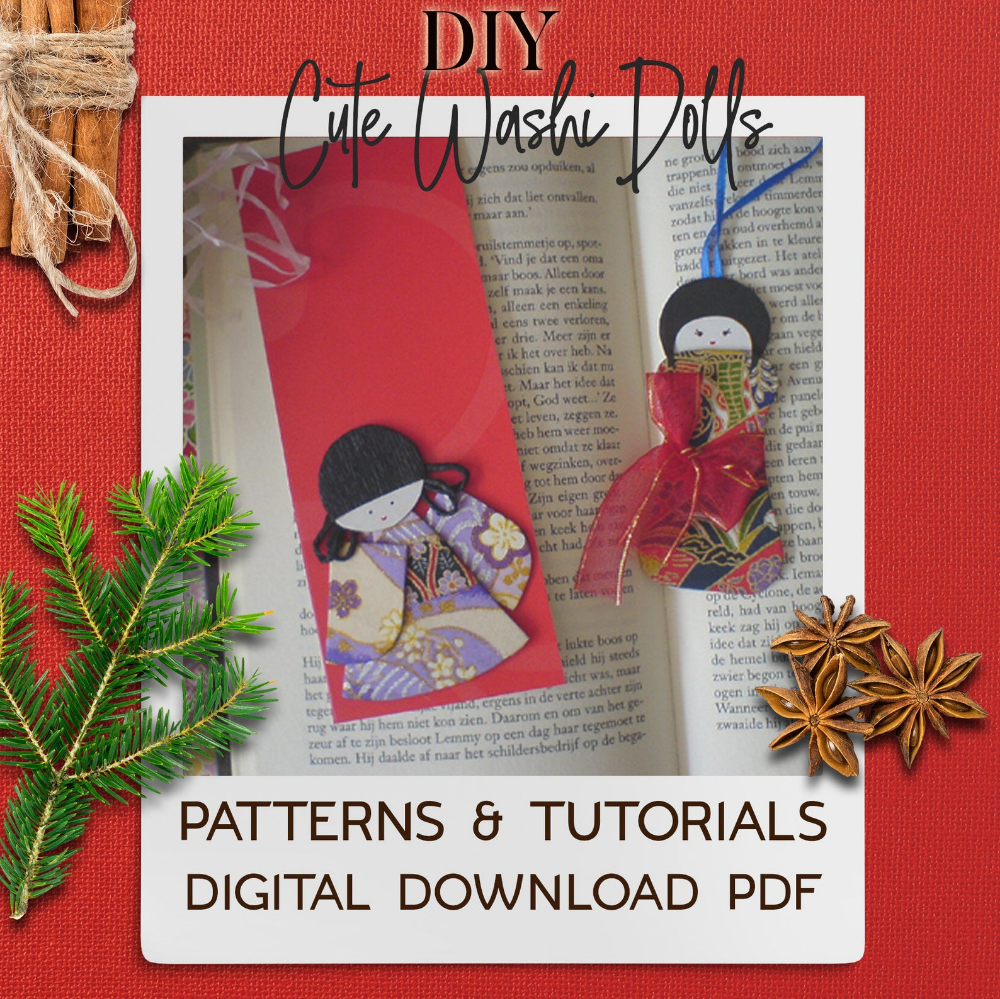 Diy Japanese Washi Kimono Dolls Pdf Patterns And Tutorial In Etsy In 2020 How To Make Bookmarks Pdf Patterns Dolls Handmade
