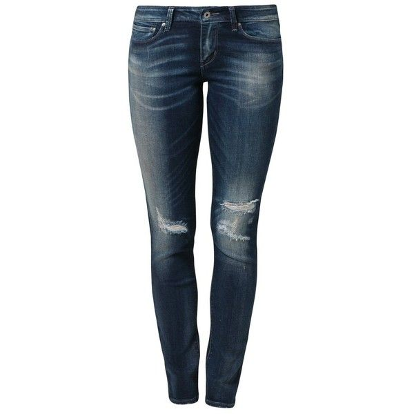 9978a601f6a81a Levi's® MODERN DEMI SKINNY Slim fit jeans reposition/destruction ($91) ❤  liked