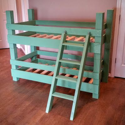 The Butcher S Block Woodwork Toddler Bunk For Crib Mattresses Ideal For Transitioning From The Crib To A Bed Best A Diy Bunk Bed Toddler Bunk Beds Bunk Beds