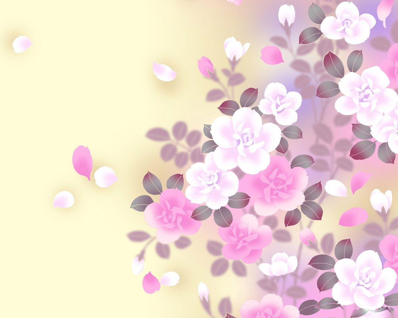 X theme background image - Flower Desktop Themes 1280 X 1024