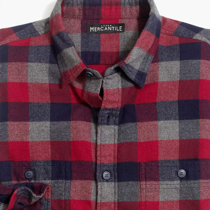 730a4ba9f8d1 Buffalo David Bitton Mercantile Tall slim-fit heather flannel shirt in  multi-colored check