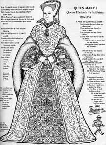 Mary As A Paper Doll From Queen Elizabeth Paper Dolls To Color