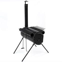 Portable Military Steel Camping Wood Stove For Camp Cooking Or As