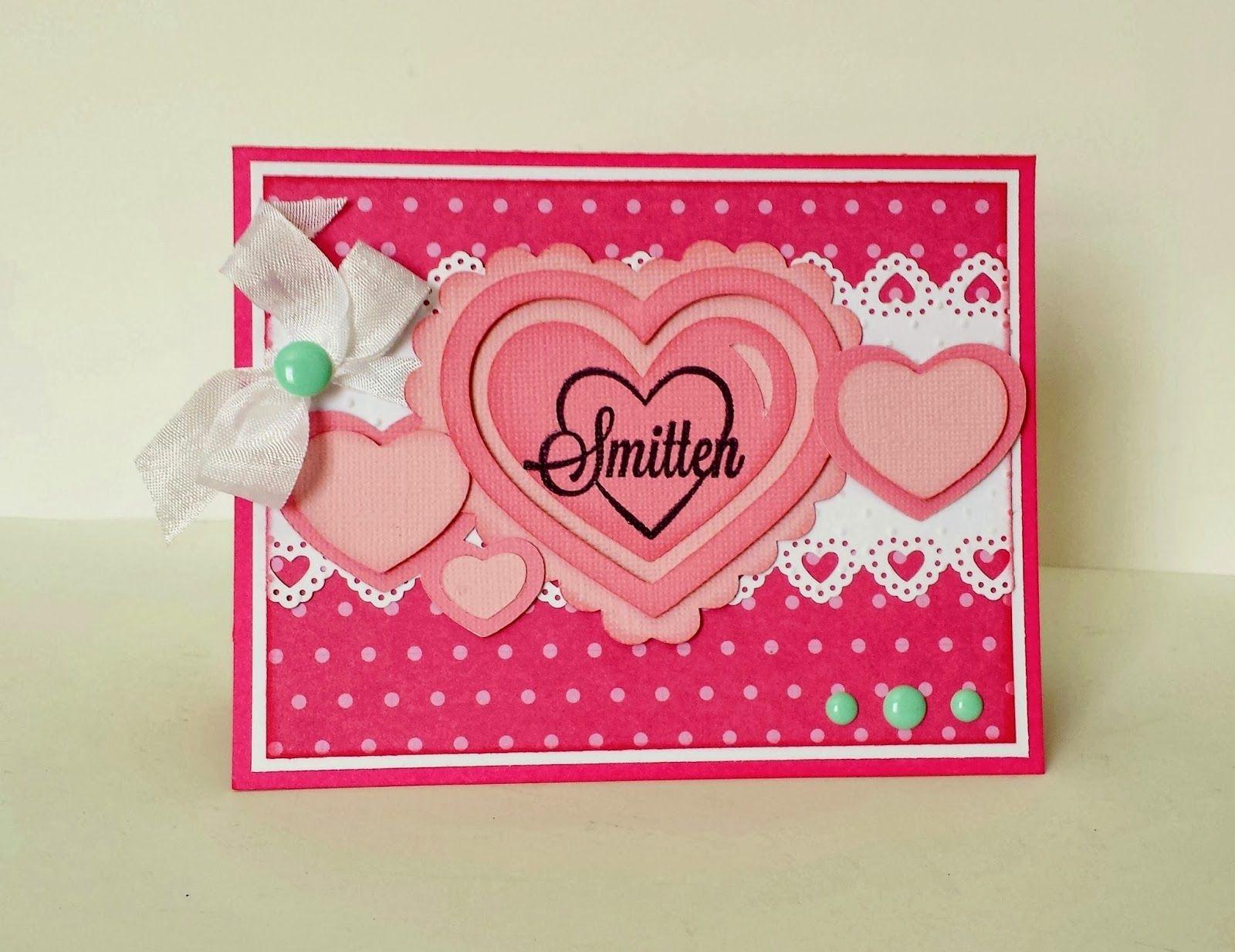 Maria Linas Creative Designs Smitten Valentines Card