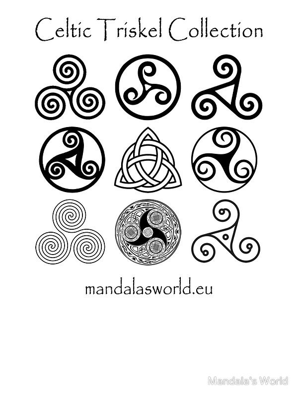 celtic triskell collection dark' pegatinamandala's world